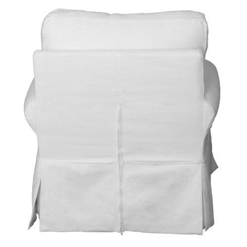 Horizon Slipcovered Swivel Rocking Chair - back view - SU-114993-391081