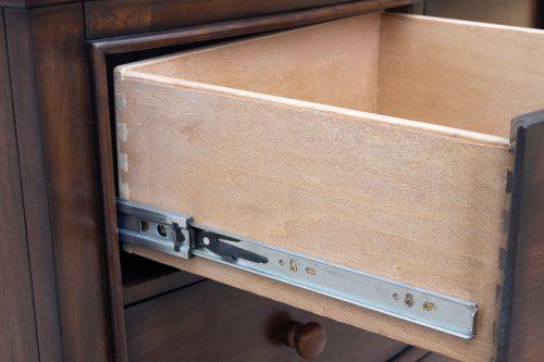Chest - six drawers - drawer hardware - Bahama shutterwood - CF-1141-0158