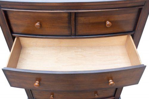Chest - six drawers - large drawer open - Bahama shutterwood - CF-1141-0158