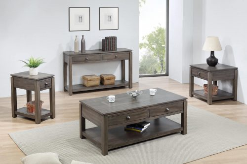 Shades of Grey Collection - end table - narrow end table - sofa console - coffee table - living room setting DLU-EL1602-03-04-08