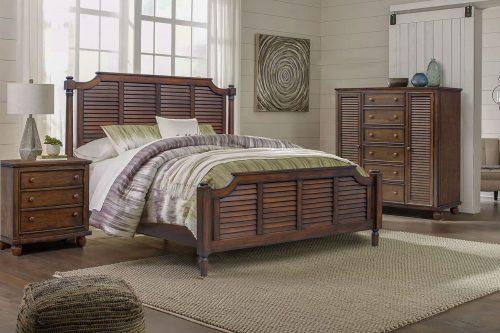 Armoire with six drawers - bedroom scene - Bahama shutterwood - CF-1142-0158