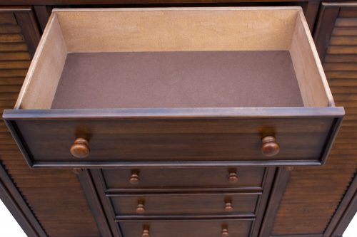 Armoire with six drawers - small drawer open - Bahama shutterwood - CF-1142-0158