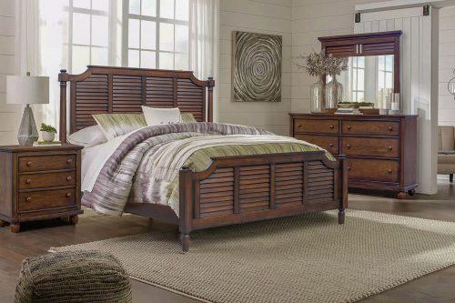 Dresser with Mirror - Bahama Shutterwood - bedroom scene - CF-1130_34-0158