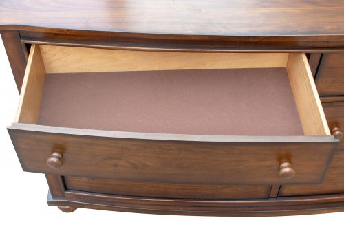 Dresser with Mirror - Bahama Shutterwood - open small drawer - CF-1130_34-0158