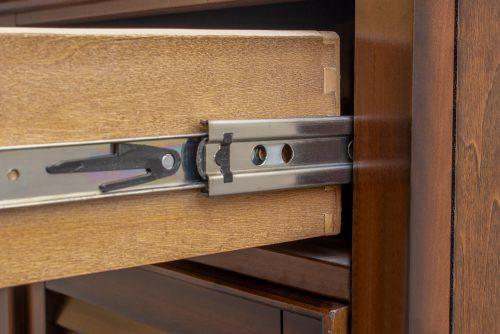 Nightstand with one drawer - Bahama Shutterwood -detail of hardware - CF-1137-0158