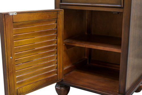 Nightstand with one drawer - Bahama Shutterwood - door open - CF-1137-0158