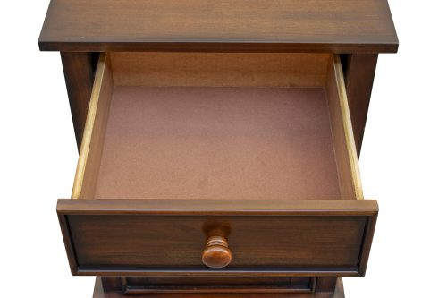 Nightstand with one drawer - Bahama Shutterwood - drawer open - CF-1137-0158
