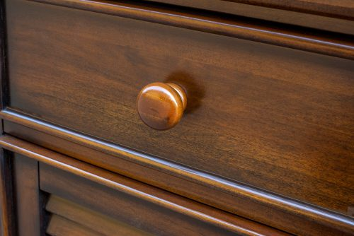 Nightstand with one drawer - Bahama Shutterwood - knob detail - CF-1137-0158