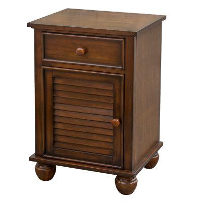 Nightstand with one drawer - Bahama Shutterwood - three quarter view - CF-1137-0158