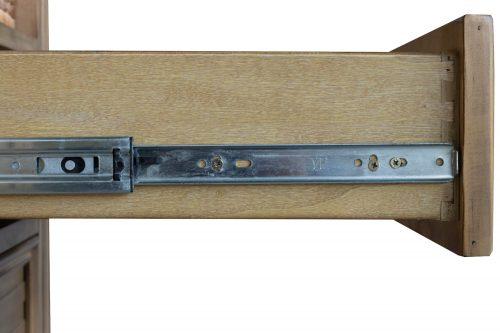 Vintage Casual Dresser - drawer open showing hardware - CF-1230-0252