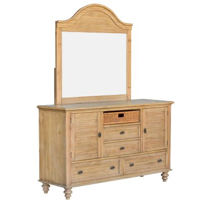 Vintage Casual Dresser with Mirror - three quarter view - CF-1230_34-0252