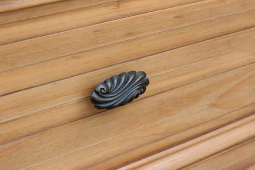 Vintage Casual - Nightstand with Basket - door detail - CF-1236-0252