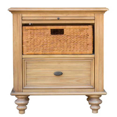 Vintage Casual - Nightstand with Basket - front view - CF-1236-0252