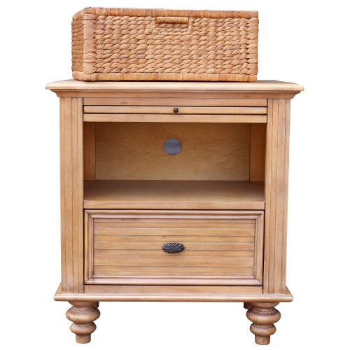 Vintage Casual - Nightstand with Basket - front view with basket - CF-1236-0252