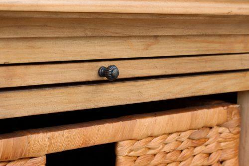 Vintage Casual - Nightstand with Basket - hidden shelf - CF-1236-0252