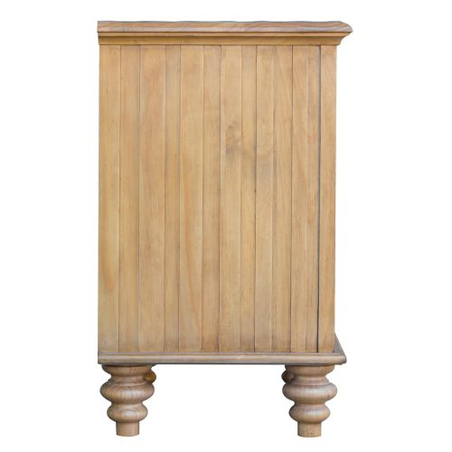 Vintage Casual - Nightstand with Basket - side view - CF-1236-0252