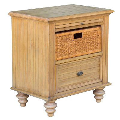 Vintage Casual - Nightstand with Basket - three quarter view - CF-1236-0252
