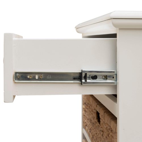 Ice Cream at the Beach collection - Nightstand End Table - drawer open showing hardware - CF-1737-0111