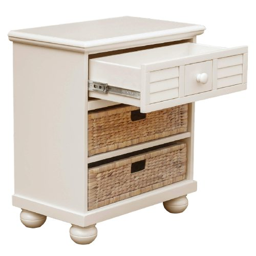 Ice Cream at the Beach collection - Nightstand End Table - three quarter view with drawer open - CF-1737-0111