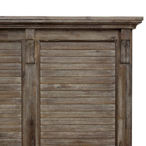 Solstice Gray Collection - Queen bed frame - headboard detail - CF-3001-0441-QB