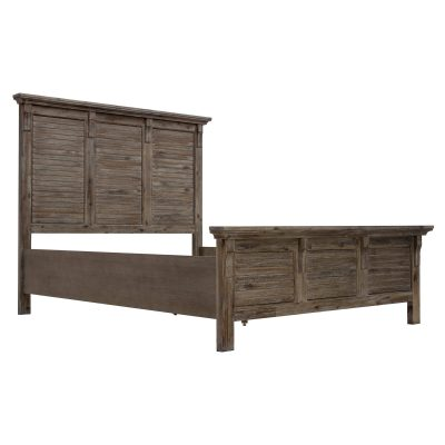 Solstice Gray Collection - Queen bed frame - three-quarter view - CF-3001-0441-QB