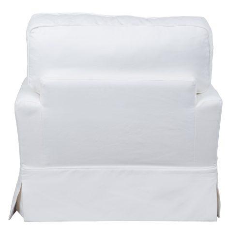 Ariana Slipcovered Chair - Performance White - back view - SU-78320-81