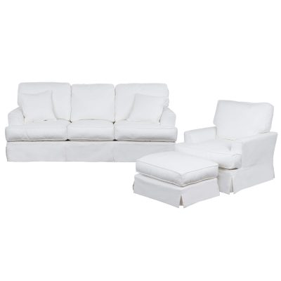 Ariana Slipcovered Sleeper Set - Performance White - SU-78301-20-30-81