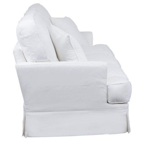 Slipcovered Sofa – Performance White - side view - SU-78301-81