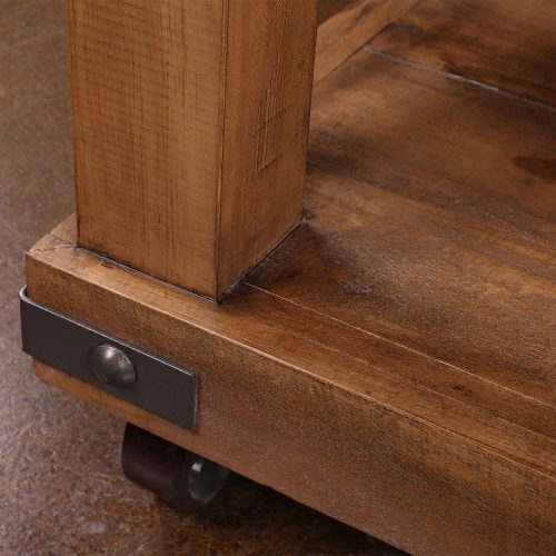 Rustic Collection - Coffee Table - Detail of Corner hardware- HH-1365-200