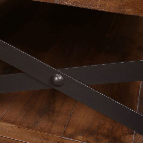 Rustic Collection - Coffee Table - Detail of Cross-brace hardware - HH-1365-200