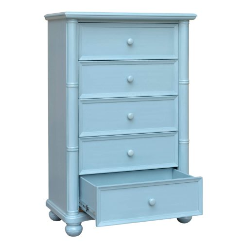 Ice Cream at the Beach Collection - Chest with drawers - 0156 Finish - three quarter view with drawer open - CF-1741-0156