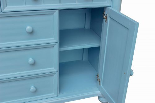 Ice Cream at the Beach Collection - Dresser with mirror - 0150 finish - door open - CF-1730_34-0156