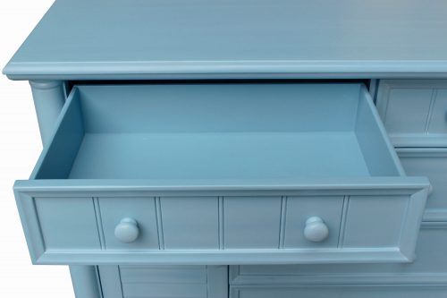 Ice Cream at the Beach Collection - Dresser with mirror - 0150 finish - drawer open - CF-1730_34-0156
