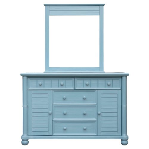 Ice Cream at the Beach Collection - Dresser with mirror - 0150 finish - front view - CF-1730_34-0156