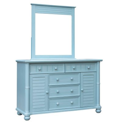 Ice Cream at the Beach Collection - Dresser with mirror - 0150 finish - three quarter view - CF-1730_34-0156