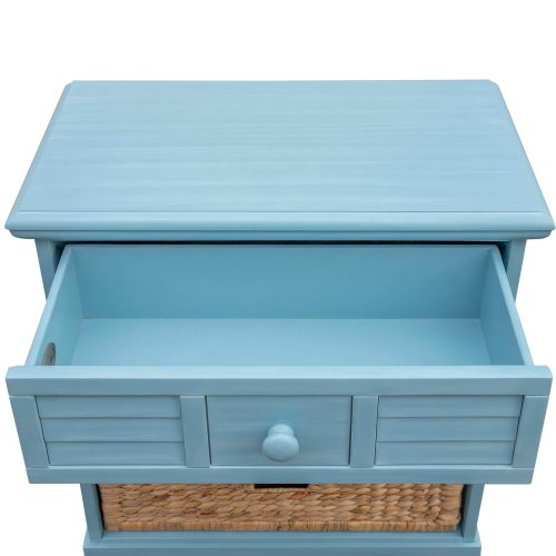 Ice Cream at the Beach collection - Nightstand End Table - 0156 Finish - open drawer - CF-1737-0156