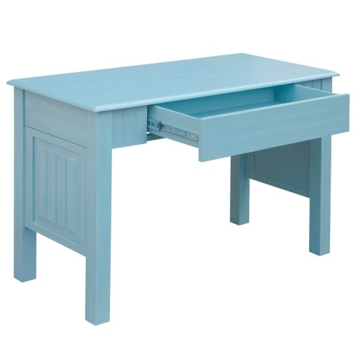 Ice Cream at the Beach collection - Vanity Desk with Chair - 0156 Finish - Three quarter view drawer open - CF-1786-0156.jpg