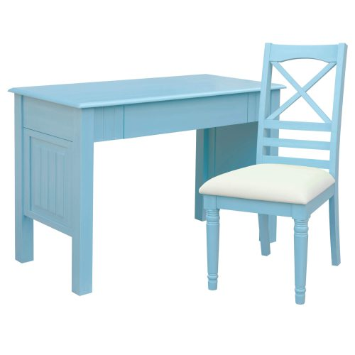 Ice Cream at the Beach collection - Vanity Desk with Chair - 0156 Finish - Three quarter view full - CF-1786-0156