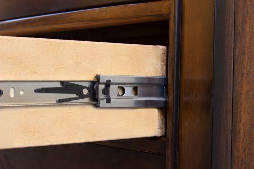 Nightstand with three drawers - Bahama Shutterwood - drawer hardware - CF-1136-0158