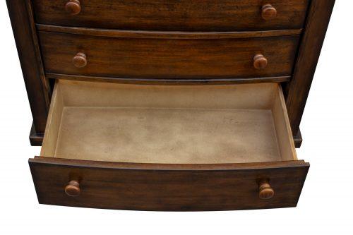 Nightstand with three drawers - Bahama Shutterwood - large drawer open - CF-1136-0158
