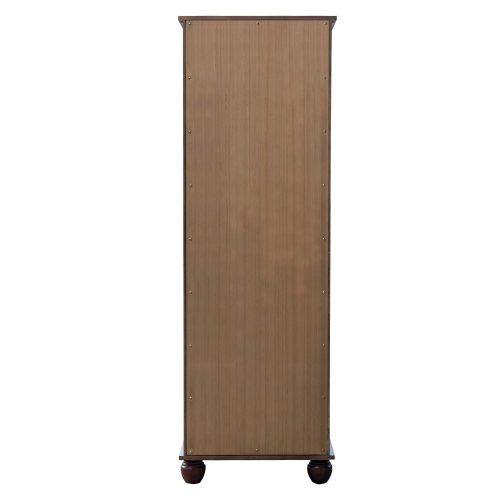 Tall Cabinet with Drawer - Bahama Shutterwood - back view - CF-1145-0158