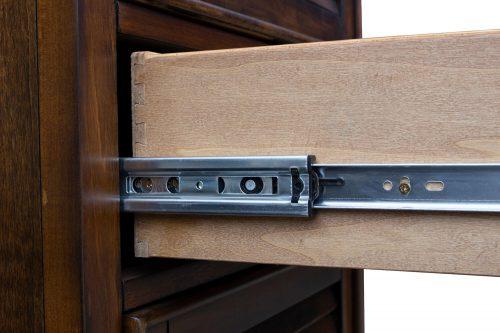 Tall Cabinet with Drawer - Bahama Shutterwood - drawer hardware - CF-1145-0158