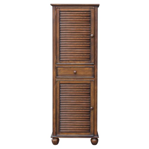 Tall Cabinet with Drawer - Bahama Shutterwood - front view - CF-1145-0158