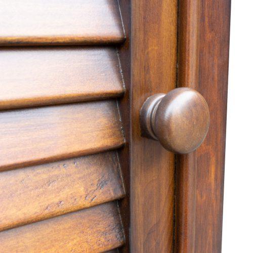 Tall Cabinet with Drawer - Bahama Shutterwood - knob detail - CF-1145-0158