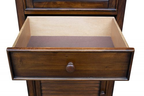 Tall Cabinet with Drawer - Bahama Shutterwood - open drawer - CF-1145-0158