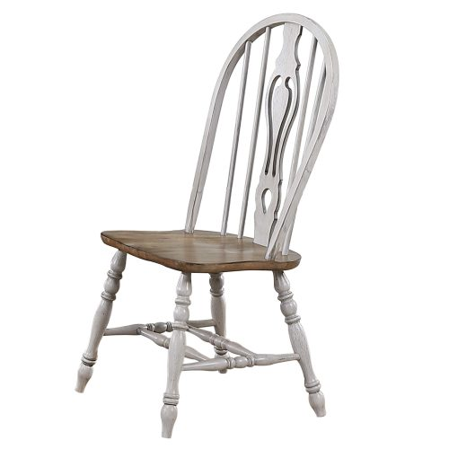 Country Grove Windsor keyhole chairs with Oak seat - front view DLU-CG-124S-GO-2