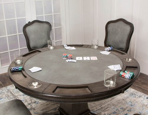 Vegas Collection Gaming Table with chairs - poker setting CR-87711-TB