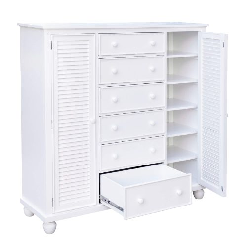 Armoire with six drawers - drawers open - CF-1142-0150