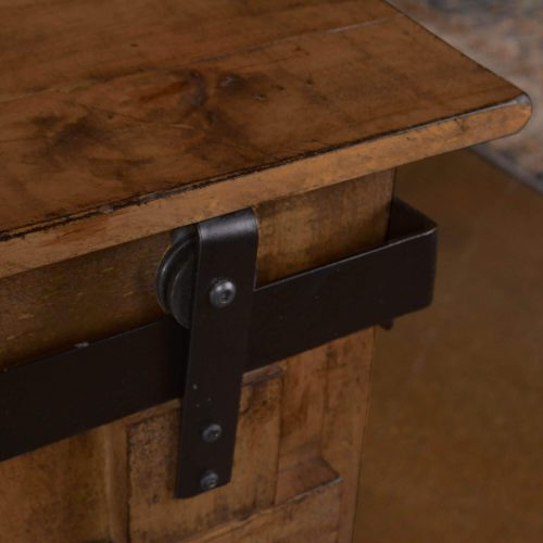 Console - Rustic Brown - Forged Iron accent detail - HH-2975-060