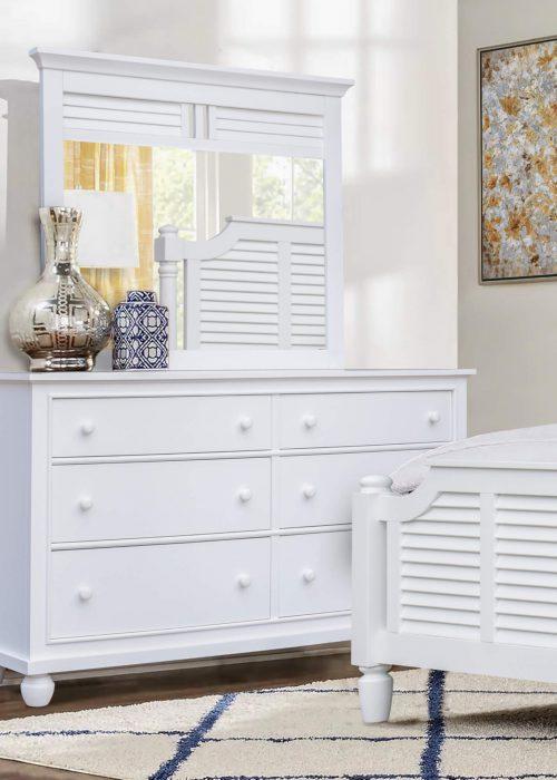 Dresser with Mirror - bedroom view - CF-1130-34-0150